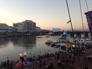 Darling Harbour at dusk